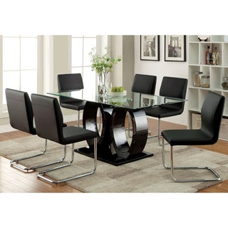 Furniture of America  Raji Contemporary Black 63-inch Wood Dining Table (Black)