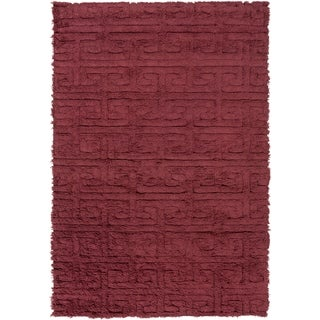 Hand-Woven Matthew Solid Wool Area Rug - 5' x 8'