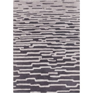 Hand-Tufted Jimmie Abstract Indoor Rug (9' x 12')