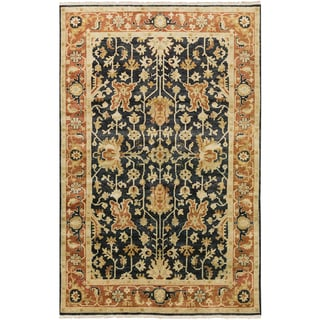 """Hand-Knotted Davon Border Indoor Area Rug - 8'6"""" x 11'6"""""""