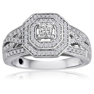 Platinaire 1/2ct TDW Diamond Engagement Ring (H-I, I2-I3)