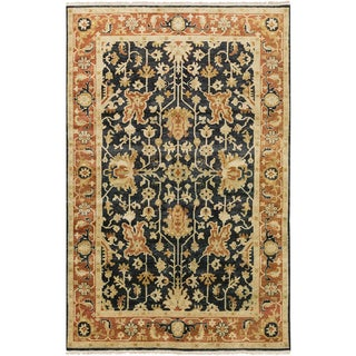 "Hand-Knotted Davon Border Indoor Area Rug - 9'6"" x 13'6"""