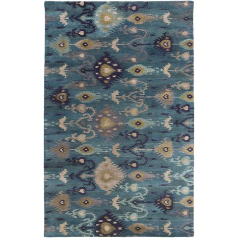 Hand-Tufted Adalyn Ikat New Zealand Wool Area Rug - 9' x 13'