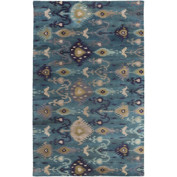 Hand-Tufted Adalyn Ikat New Zealand Wool Area Rug - 8' x 11'