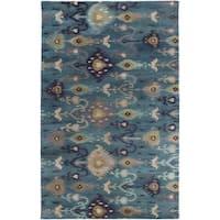 Hand-Tufted Adalyn Ikat New Zealand Wool Area Rug - 8' x 11'