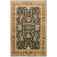 Hand-Knotted Davon Border Indoor Area Rug - 7'9 x 9'9'