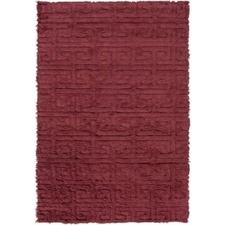 Hand-Woven Matthew Solid Wool Area Rug - 2' x 3'