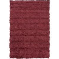 Hand-Woven Matthew Solid Wool Area Rug - 8' x 11'