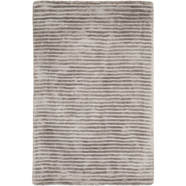 Hand-Loomed Elle Solid Viscose Area Rug (9' x 13')