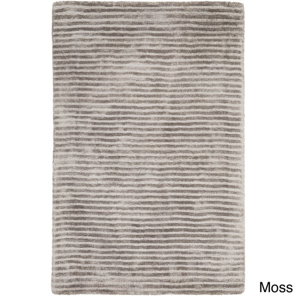 Hand-Loomed Elle Solid Viscose Area Rug