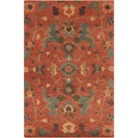 Hand-Knotted Abbigail Border Indoor Area Rug - 9' x 13'