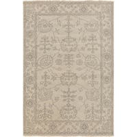 Hand-Knotted Deanna Floral New Zealand Wool Area Rug - 3'9 x 5'9