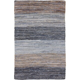 Hand-Loomed Justin Stripe Cotton Rug (2' x 3')