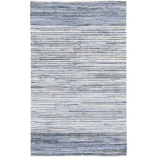 Hand-Loomed Carabello Stripe Cotton Rug (8' x 11')