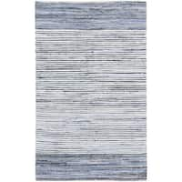 Hand-Loomed Carabello Stripe Cotton Area Rug (8' x 11')