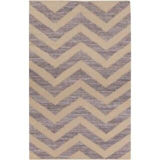 Hand-Loomed Caroline Chevron Cotton Rug (3'6 x 5'6)