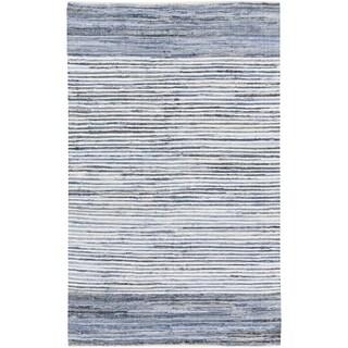 Hand-Loomed Carabello Stripe Cotton Rug (3'6 x 5'6)