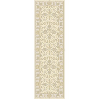 Hand-Knotted Candice Floral New Zealand Wool Rug (2'6 x 8')