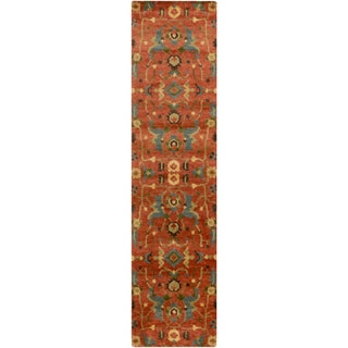Hand-Knotted Abbigail Border Indoor Rug (2'6 x 10')