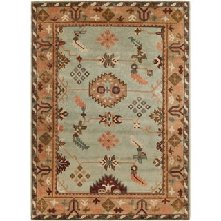 Hand-Knotted Adrienne Border Indoor Rug (2'6 x 10')