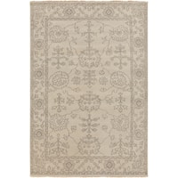 Hand-Knotted Deanna Floral New Zealand Wool Area Rug - 2' x 3'