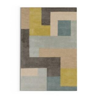 Hand-Tufted Danelli Geometric Wool Rug (3'3 x 5'3)