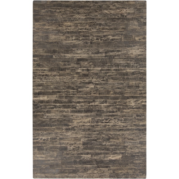 Hand-Crafted Davian Stripe Hair On Hide Area Rug - 8' x 10'