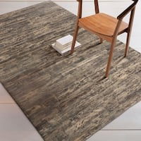 Hand-Crafted Davian Stripe Hair On Hide Area Rug - 5' x 8'