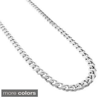 Stainless Steel Men'S 5Mm Miami Cuban Curb Link Chain Necklace (24-Inch)