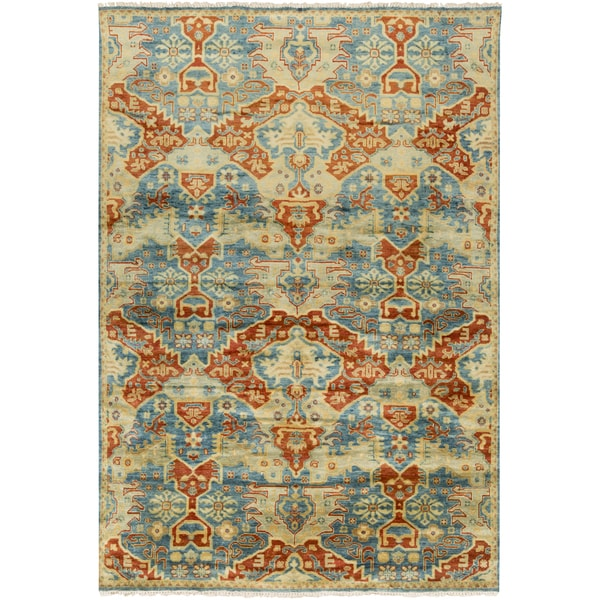 Hand-Knotted Chelsey Floral Indoor Area Rug (2' x 3')