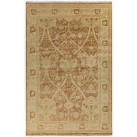 Hand-Knotted Darrell Floral New Zealand Wool Area Rug - 8' x 11'