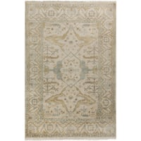 Hand-Knotted Dimitri Floral New Zealand Wool Area Rug - 8' X 11'