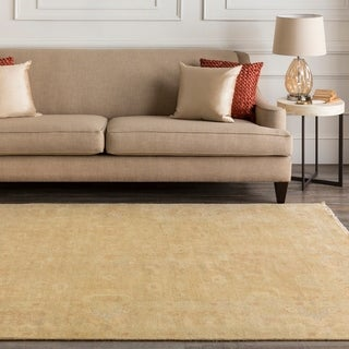 """Hand-Knotted Delores Floral New Zealand Wool Area Rug - 5'6"""" x 8'6"""""""
