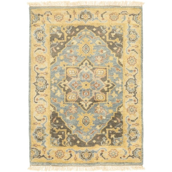 Shop Persian Oriental New Zealand Wool Area Rug: Shop Hand-Knotted Cecilia Floral New Zealand Wool Area Rug