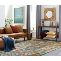 Hand-Knotted Chelsey Floral Indoor Area Rug - 9' x 13'