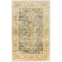"""Hand-Knotted Cecilia Floral New Zealand Wool Area Rug - 3'6"""" x 5'6"""""""