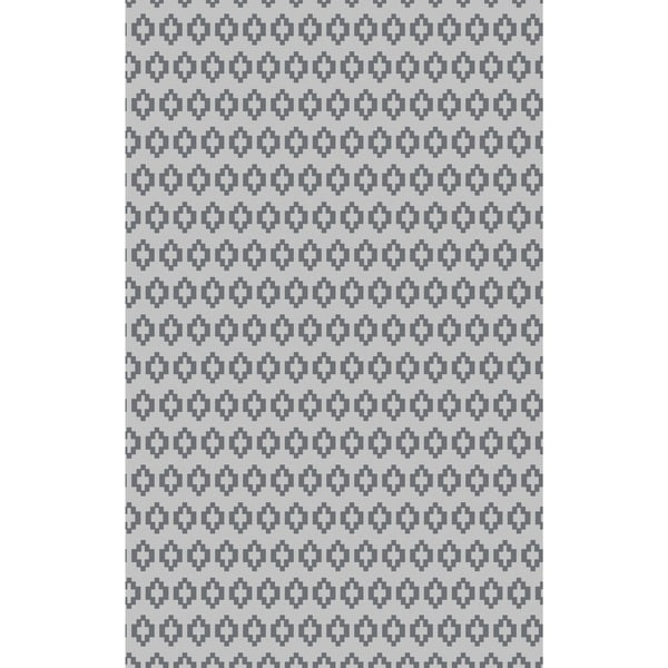 Hand-Knotted Esteban Solid Viscose Area Rug - 5' x 8'