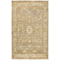 Hand-Knotted Laverne Floral New Zealand Wool Area Rug (8' x 10') - 8' x 10'