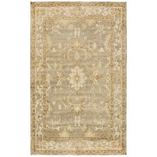 Hand-Knotted Laverne Floral New Zealand Wool Rug (8' x 10') (Option: Olive)