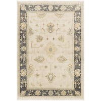 "Hand-Knotted Chirstie Floral New Zealand Wool Area Rug - 5'6"" x 8'6"""