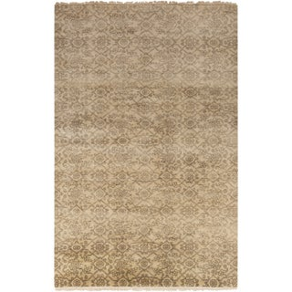 Hand-Knotted Sylvia Floral New Zealand Wool Area Rug - 2' x 3'