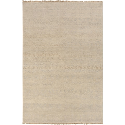 Hand-Knotted Analia Vintage New Zealand Wool Area Rug - 2' x 3'