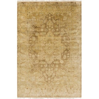 Hand-Knotted Stefan Floral New Zealand Wool Rug (2' x 3')