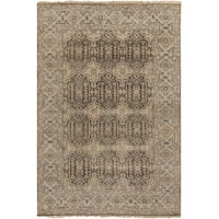 Hand-Knotted Archer Oriental New Zealand Wool Area Rug (8'6 x 11'6) - 8'6 x 11'6