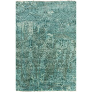 Hand-Knotted Alivia Paisley New Zealand Wool Rug (8'6 x 11'6)
