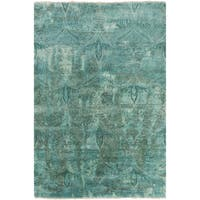 "Hand-Knotted Alivia Paisley New Zealand Wool Area Rug - 8'6"" x 11'6"""