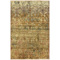 "Hand-Knotted Stacey Paisley New Zealand Wool Area Rug - 8'6"" x 11'6"""