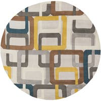 Palm Canyon Ashby Hand-tufted Geometric Wool Area Rug - 4'