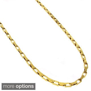Stainless Steel 2.5mm Long Box Chain Necklace (24-inch)