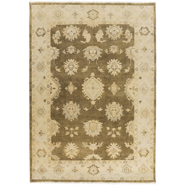 Hand-Knotted Kristin Floral New Zealand Wool Area Rug - 8' x 10'